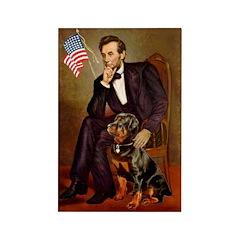 Lincoln's Rottweiler Rectangle Magnet