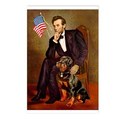 Lincoln's Rottweiler Postcards (Package of 8)