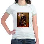 Lincoln's Rottweiler Jr. Ringer T-Shirt