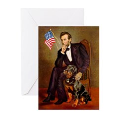 Lincoln's Rottweiler Greeting Cards (Pk of 20)