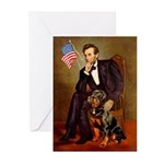Lincoln's Rottweiler Greeting Cards (Pk of 10)