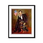 Lincoln's Rottweiler Framed Panel Print