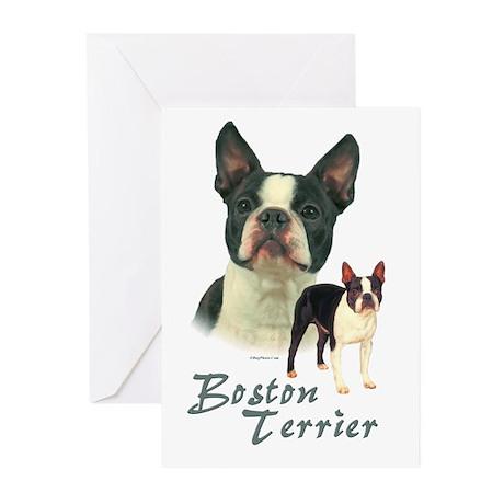 Boston Terrier-2 Greeting Cards (Pk of 10)