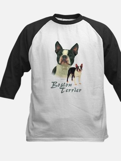 Boston Terrier-2 Kids Baseball Jersey