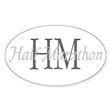 Half Marathon Oval Decal