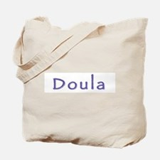Doula white/purple Tote Bag
