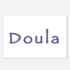 Doula white/purple Postcards (Package of 8)
