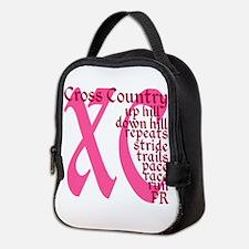 Cross Country XC pink Neoprene Lunch Bag