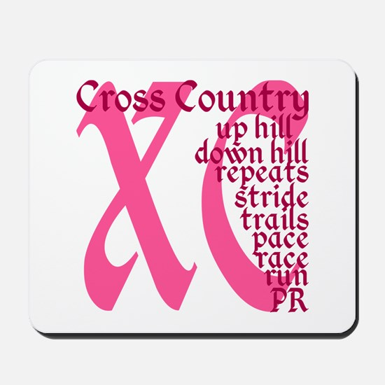Cross Country XC pink Mousepad