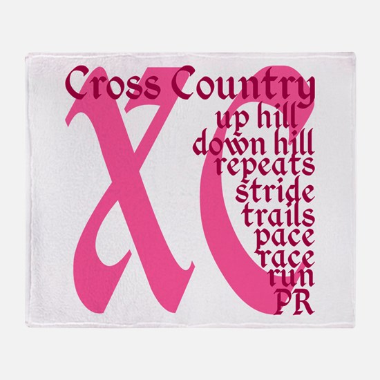 Cross Country XC pink Throw Blanket