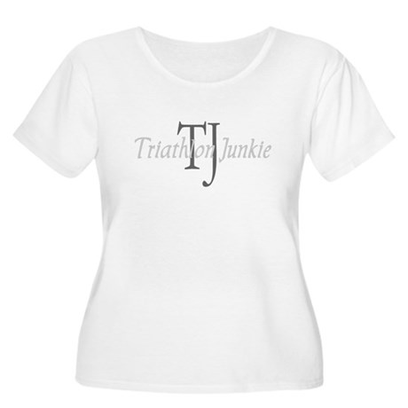 Triathlon Junkie Women's Plus Size Scoop Neck T-Sh