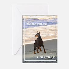 Doberman Pincher-3 Greeting Cards (Pk of 20)