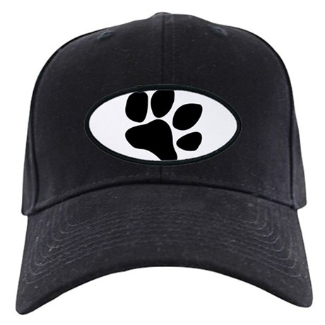 Paw Prints Black Cap