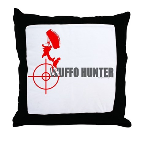 Wuffo Hunter Skydiving Throw Pillow