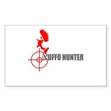 Wuffo Hunter Skydiving Rectangle Decal