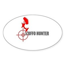 Wuffo Hunter Skydiving Oval Decal