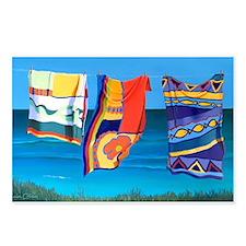 Beach Towel Postcards (package Of 8)