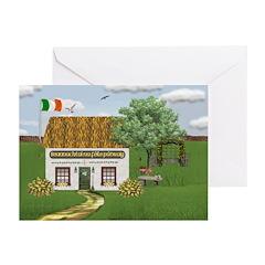 St. Patrick's Day Cottage Cards (Pk of 10)