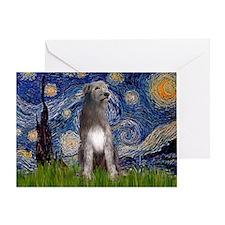 Starry/Irish Wolfhound Greeting Card