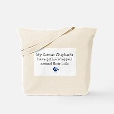Wrapped Around Their Paws (German Shepherd) Tote B