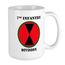 7th Infantry Division W/Text Mugs