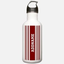 Red and White Stripes Water Bottle
