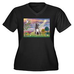 Cloud Angel & Irish Wolfhound Women's Plus Size V-