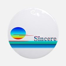 Sincere Ornament (Round)