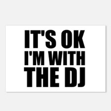 It's Ok, I'm With The DJ Postcards (Package of 8)