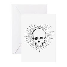 Skull Heart 1 Greeting Cards (Pk of 20)