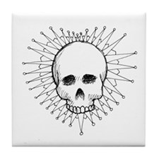 Skull Heart 1 Tile Coaster