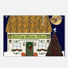 Merry Christmas (Gaelic) Postcards (Package of 8)