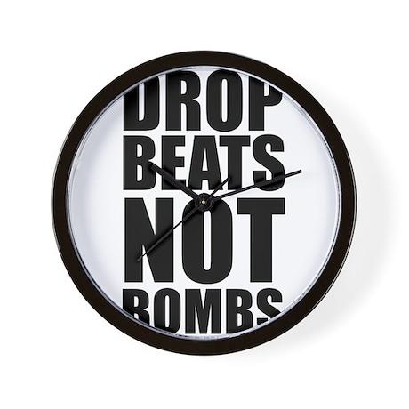 Drop Beats, Not Bombs 2 Wall Clock
