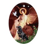 Angel #1/Rottweiler Ornament (Oval)