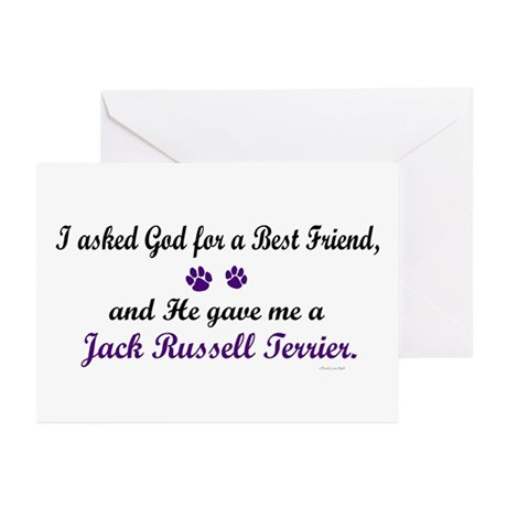 God Gave Me A Jack Russell Terrier Greeting Cards