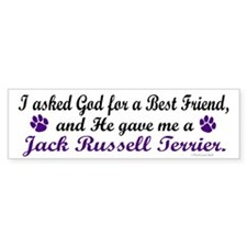God Gave Me A Jack Russell Terrier Bumper Sticker