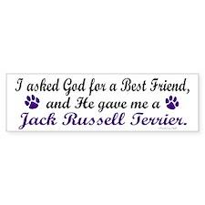 God Gave Me A Jack Russell Terrier Bumper Sticker
