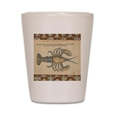 Vintage Lobster illustration Shot Glass