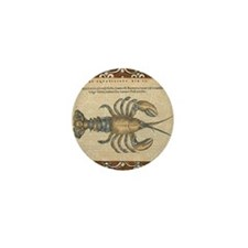 Vintage Lobster illustration Mini Button