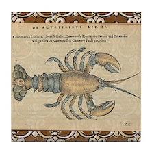 Vintage Lobster illustration Tile Coaster