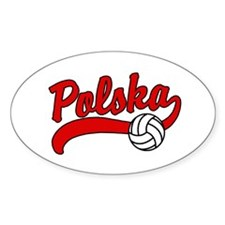 Polska Volleyball Oval Decal