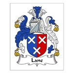 Lane Family Crest Small Poster