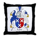 Lane Family Crest Throw Pillow