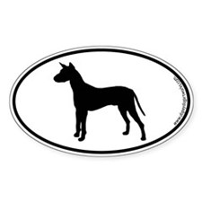 Xoloitzcuintli SILHOUETTE Oval Bumper Stickers