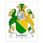 Lander Family Crest Small Poster