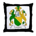 Lander Family Crest Throw Pillow