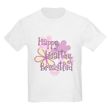 Happy Healthy Breastfed - pur Kids Light T-Shirt