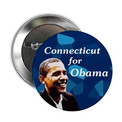 Connecticut for Obama campaign button