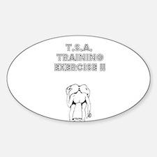 TSA Training Exercise Oval Decal