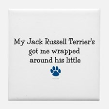 Wrapped Around His Paw (Jack Russell Terrier) Tile
